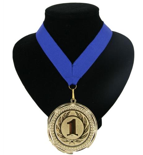 Fan medaille nr. 1 lint blauw