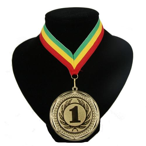 Fan medaille nr  1 lint groen geel rood