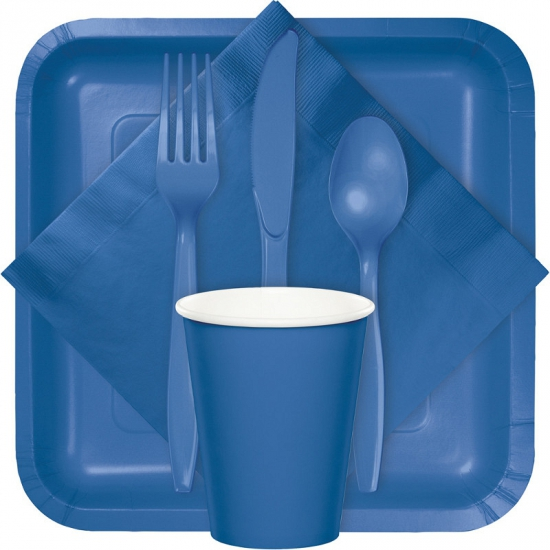 Feest servetjes blauw