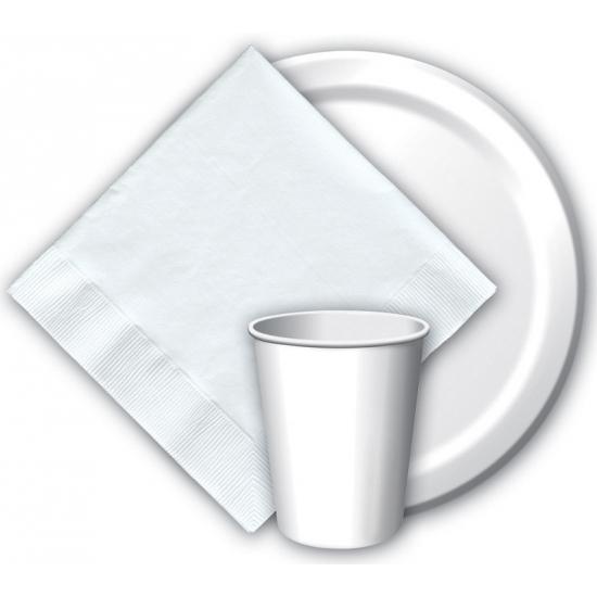 Feest servetjes wit