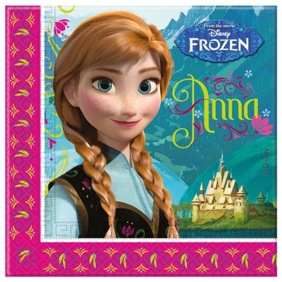 Feest servetten met Frozen plaatjes 20 stuks