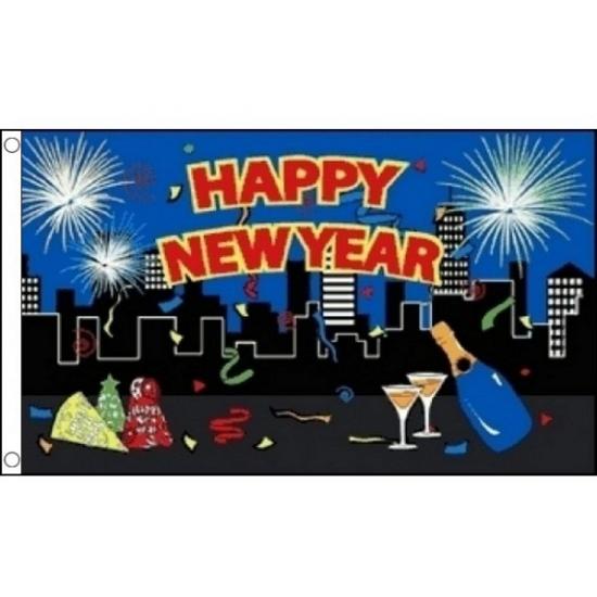 Feest vlag Happy New Year