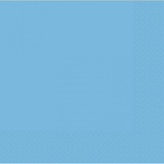 Feestartikelen blauwe servetten 33 x 33 cm
