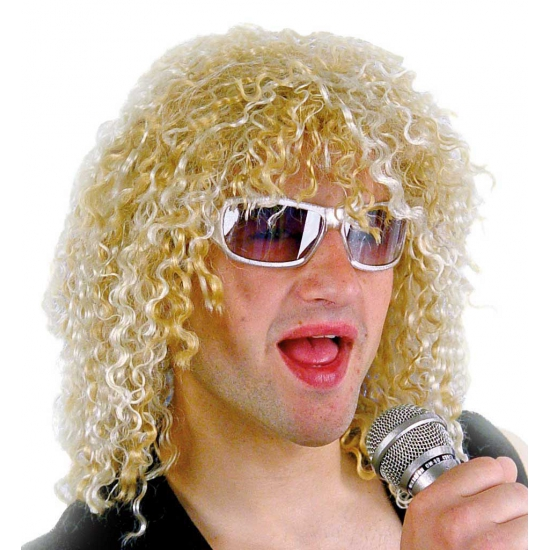 Feestartikelen blonde rockers pruik