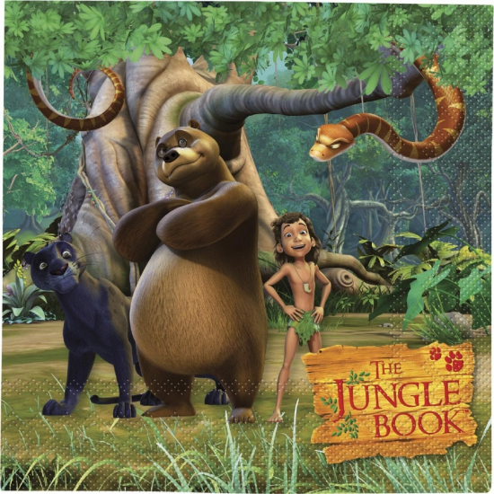 Feestartikelen Jungle Book servetten 20 stuks
