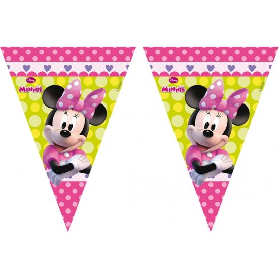 Feestartikelen Minnie Mouse vlaggenlijn 3 meter