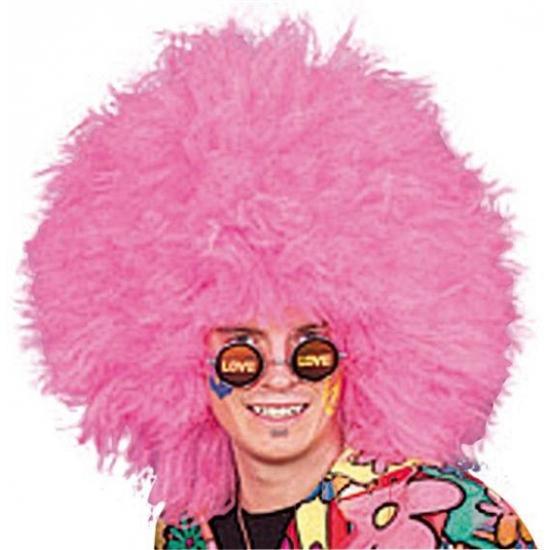 Fel roze pruik voor volwassenen