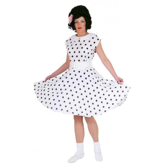 Fifties jurkje met polka dots wit zwart