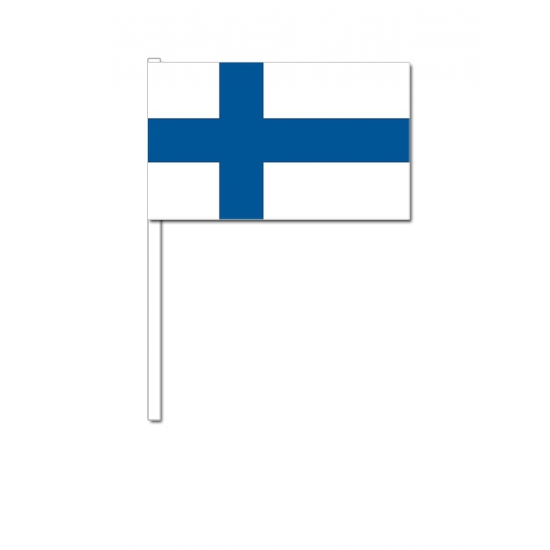Finland zwaai vlaggetjes 12 x 24 cm