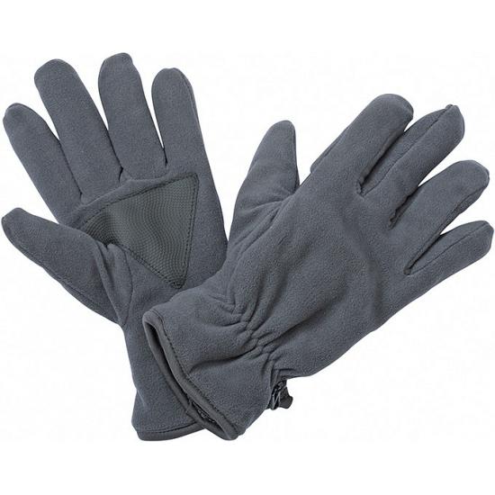 Fleece handschoenen donkergrijs met antislip