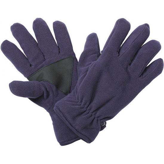 Fleece handschoenen met antislip aubergine