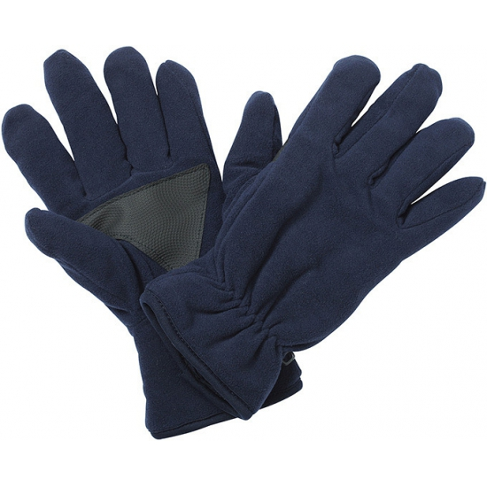 Fleece handschoenen met antislip navy