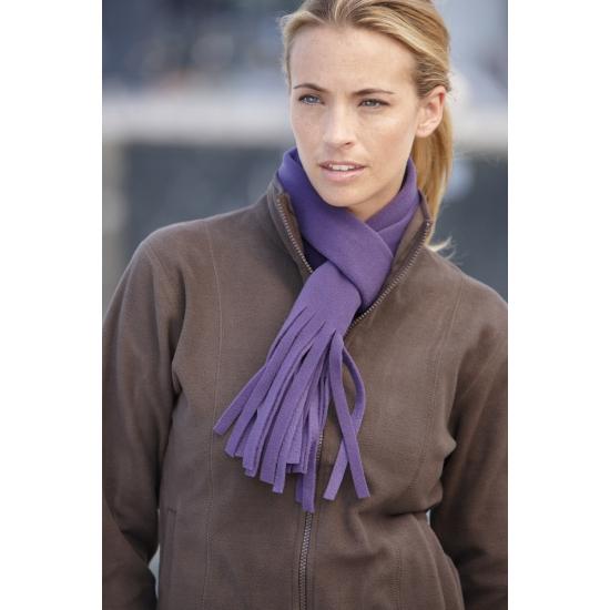 Fleece sjaal met franjes voor volwassenen