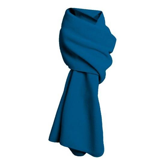 Fleece sjaals in blauwe kleur