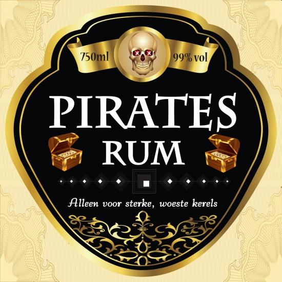 Flessen etiket Piraten rum