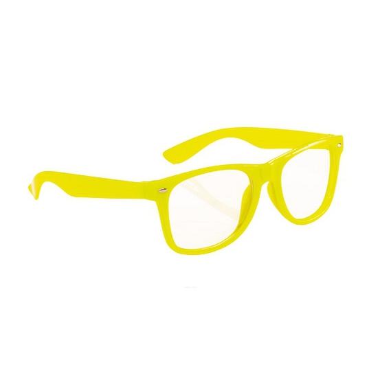 Fluor bril geel voor volwassenen
