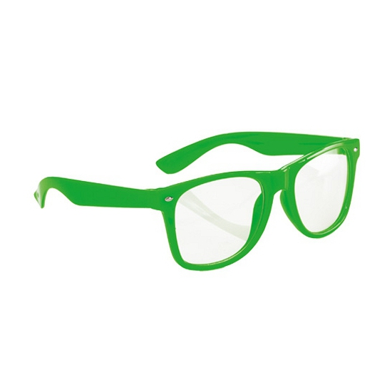 Fluor bril groen voor volwassenen