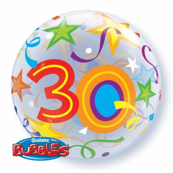 Folie ballon met helium 30 jaar