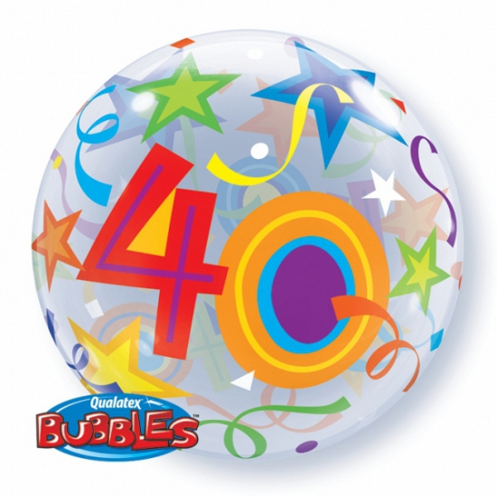 Folie ballon met helium 40 jaar