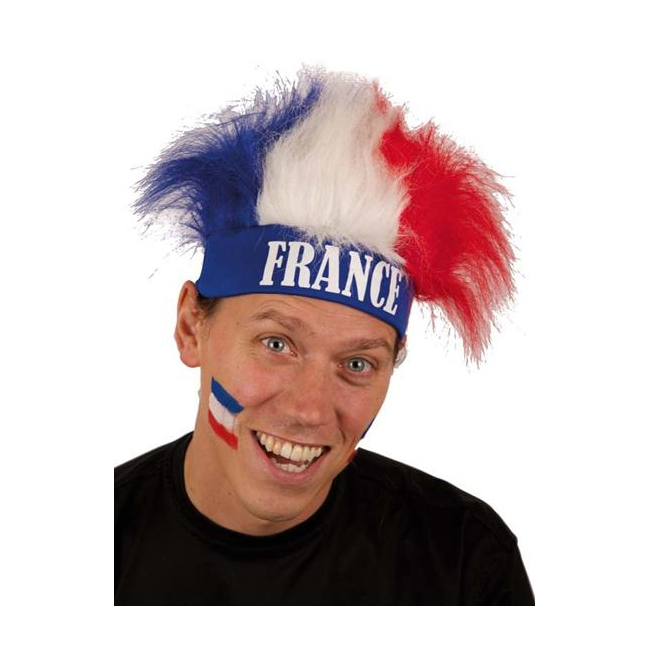 Franse supporters pruik