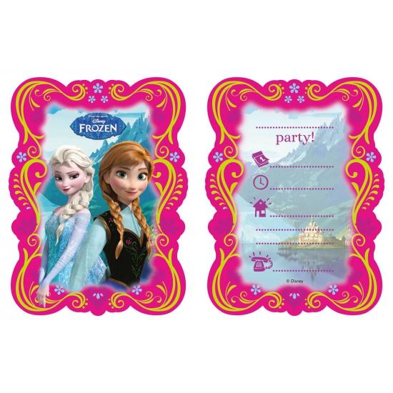 Frozen feest uitnodigingen 6 stuks