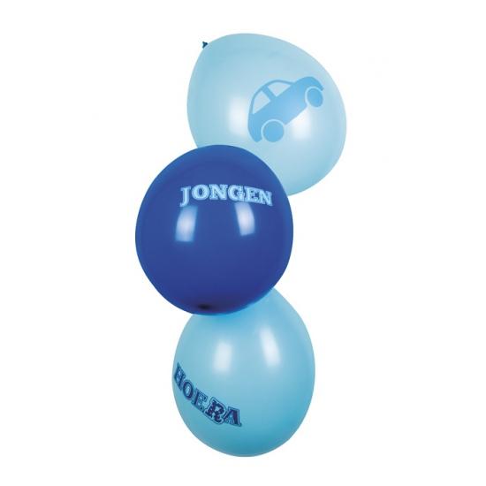 Geboorte ballonnen een jongen zes stuks