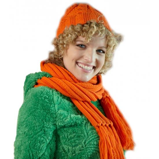 Gebreide sjaal extra lang