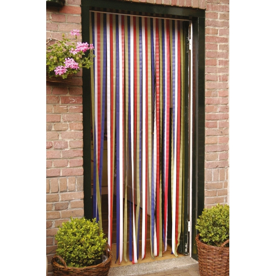 Gekleurd deurgordijn 90 x 210 cm