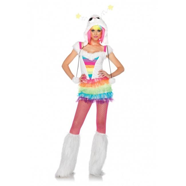 Gekleurd monster kostuum voor dames