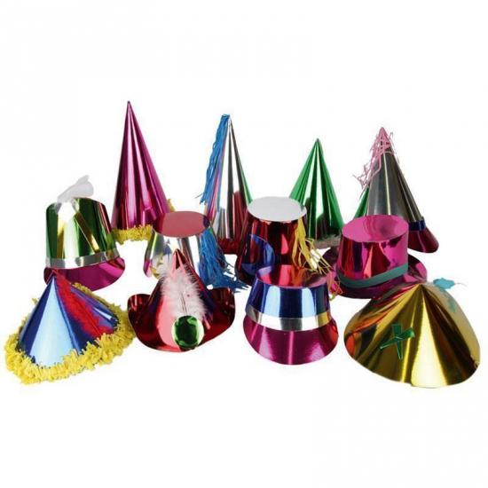 Gekleurd papieren feesthoedje