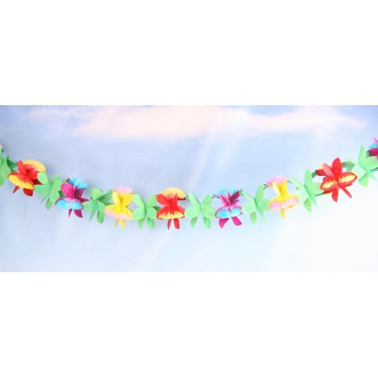 Gekleurde bloemen slinger 4 meter