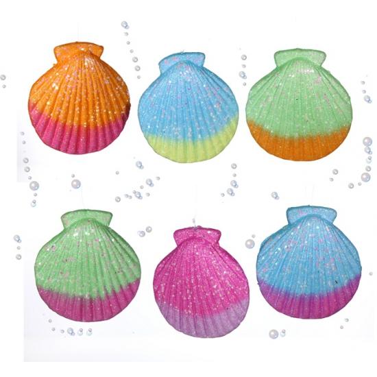 Gekleurde decoratie schelp 16 cm