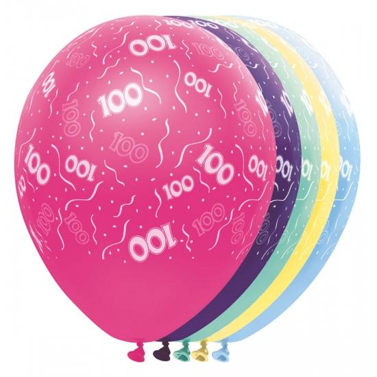 Gekleurde helium ballonnen 100 jaar