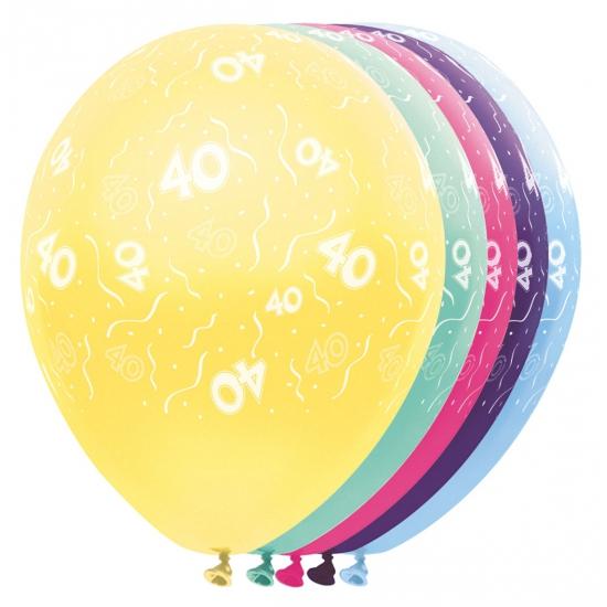 Gekleurde helium ballonnen 40 jaar