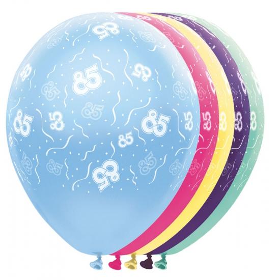 Gekleurde helium ballonnen 85 jaar