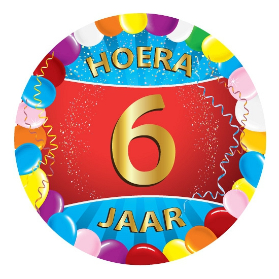 Gekleurde onderzetters 6 jaar