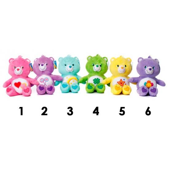 Gekleurde paarse Care Bear 33 cm