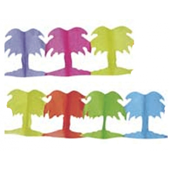 Gekleurde palmboom slingers van papier 3 stuks