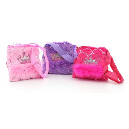 Gekleurde prinsessen tas met bont