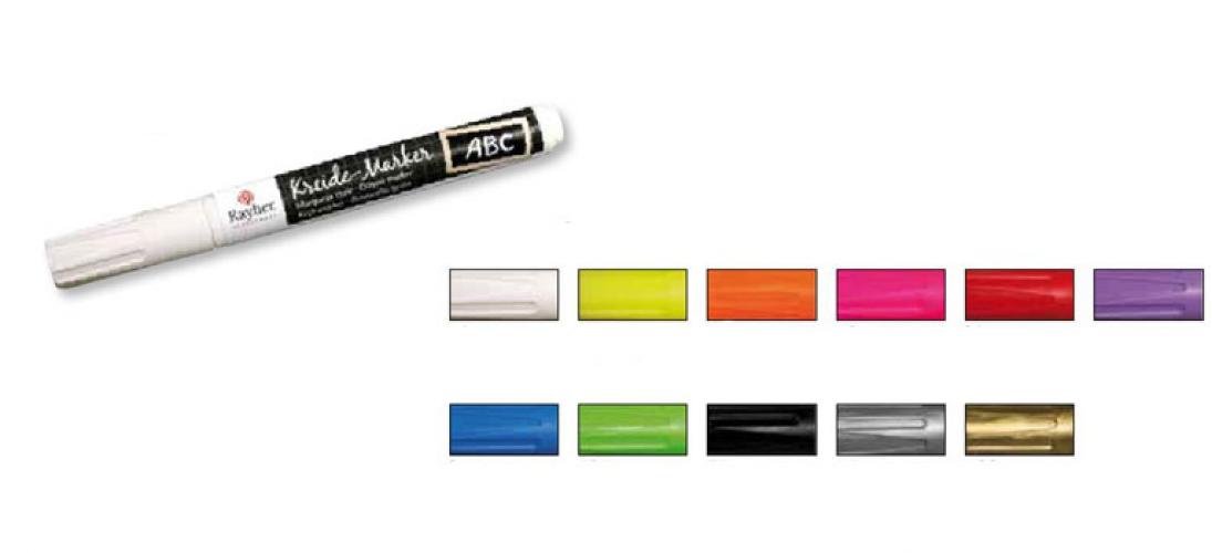 Gekleurde schoolbord stiften op waterbasis