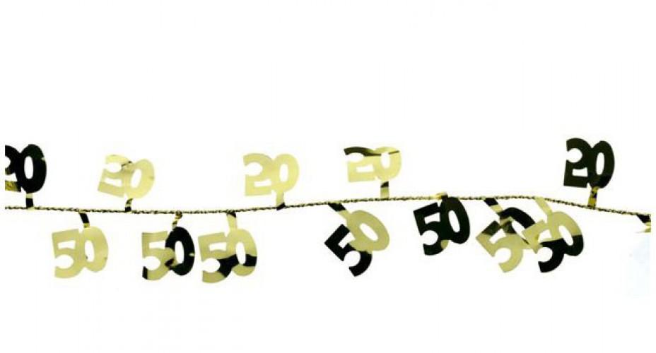 Gekleurde slinger 50 jaar 270 cm