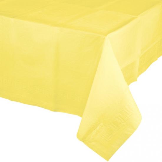 Gekleurde tafellaken geel