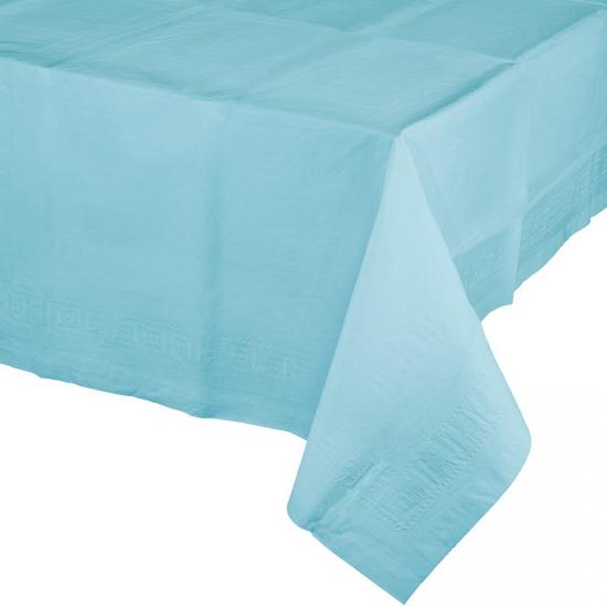 Gekleurde tafellaken lichtblauw