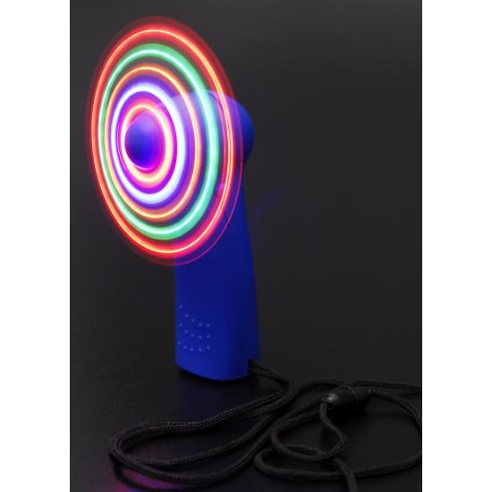 Gekleurde waaier met LED licht