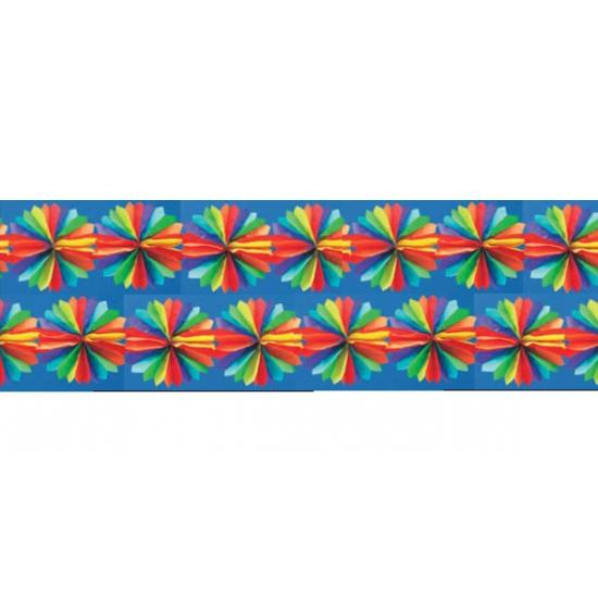 Gekleurde waaiertjes aan slinger