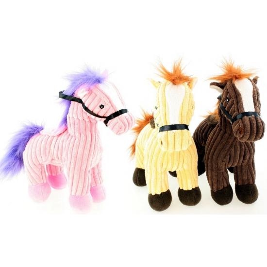 Gele badstof paardjes 25 cm