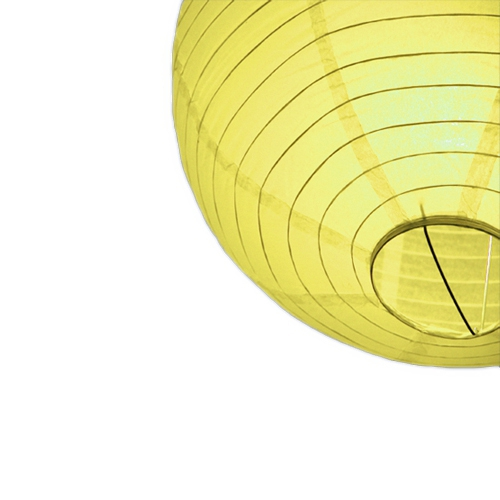 Gele bol lampion 25 cm