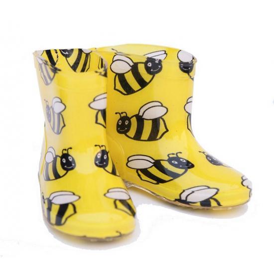 Gele regenlaarsjes voor kinderen