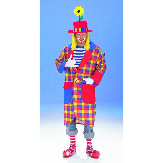 Geruite clownsjas voor volwassenen