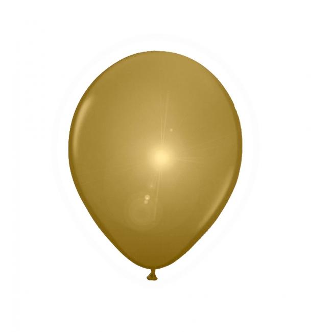 Gouden ballonnen met LED verlichting 5 stuks